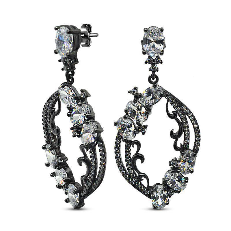 красивые серебряные украшения Crocus Elite, красивые украшения из серебра, чернёное серебро украшения, красивое серебро украшения