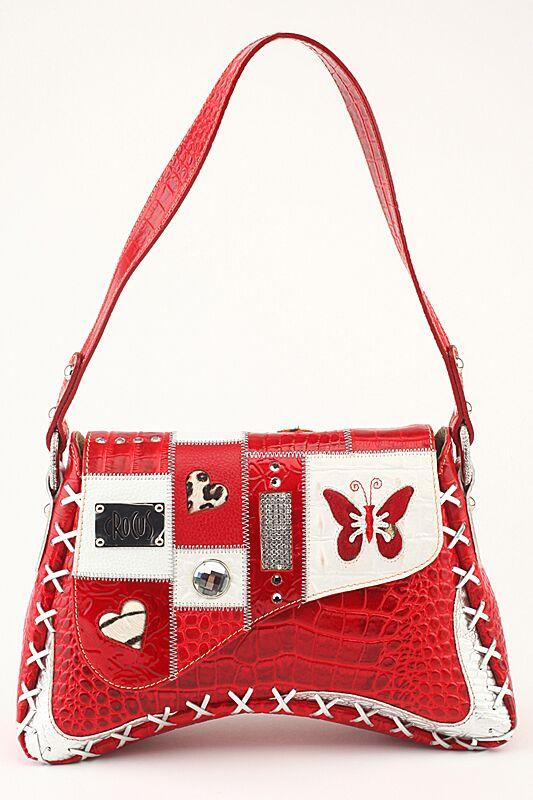 женская сумочка кожаная красная